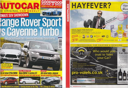 See us in AutoCar!